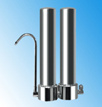 dual stainless steel water filters for fluoride